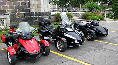 BRP Spyder RS, RS touring et RT 2010